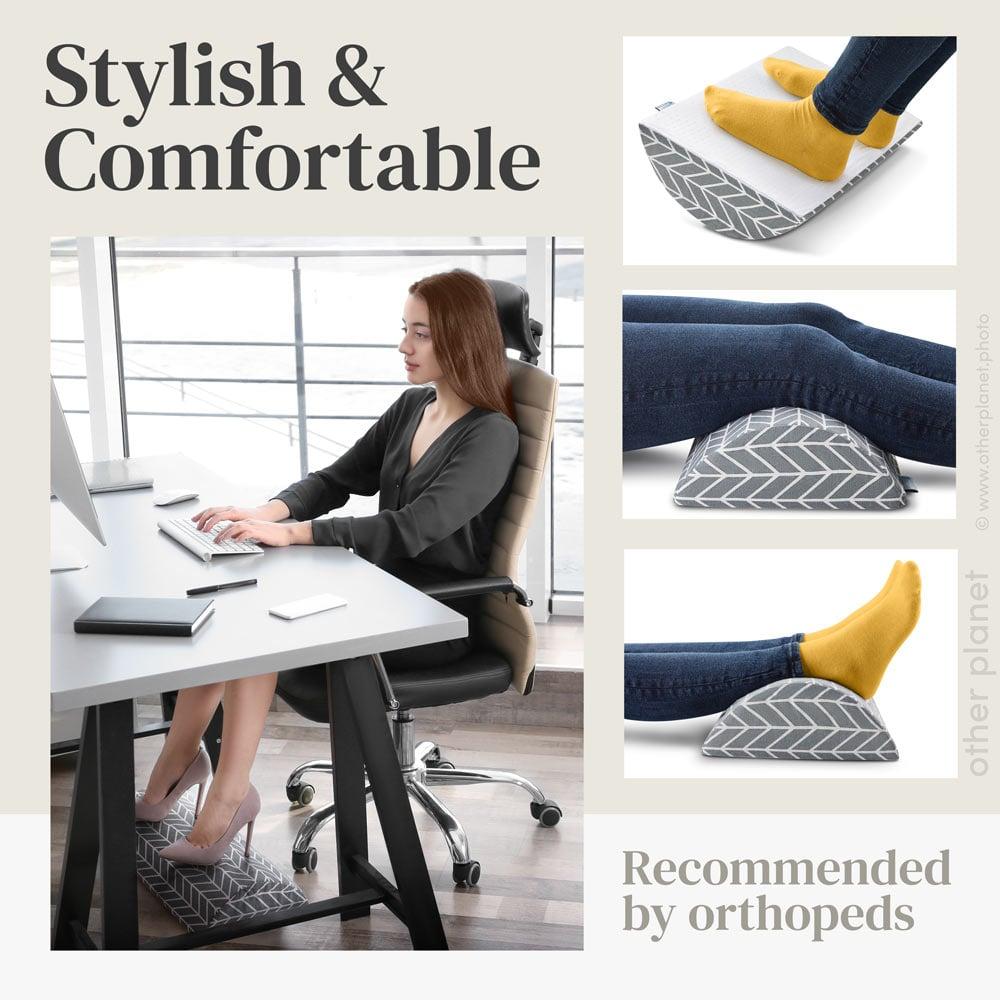 ergonomic footrest cushion eCommerce product image