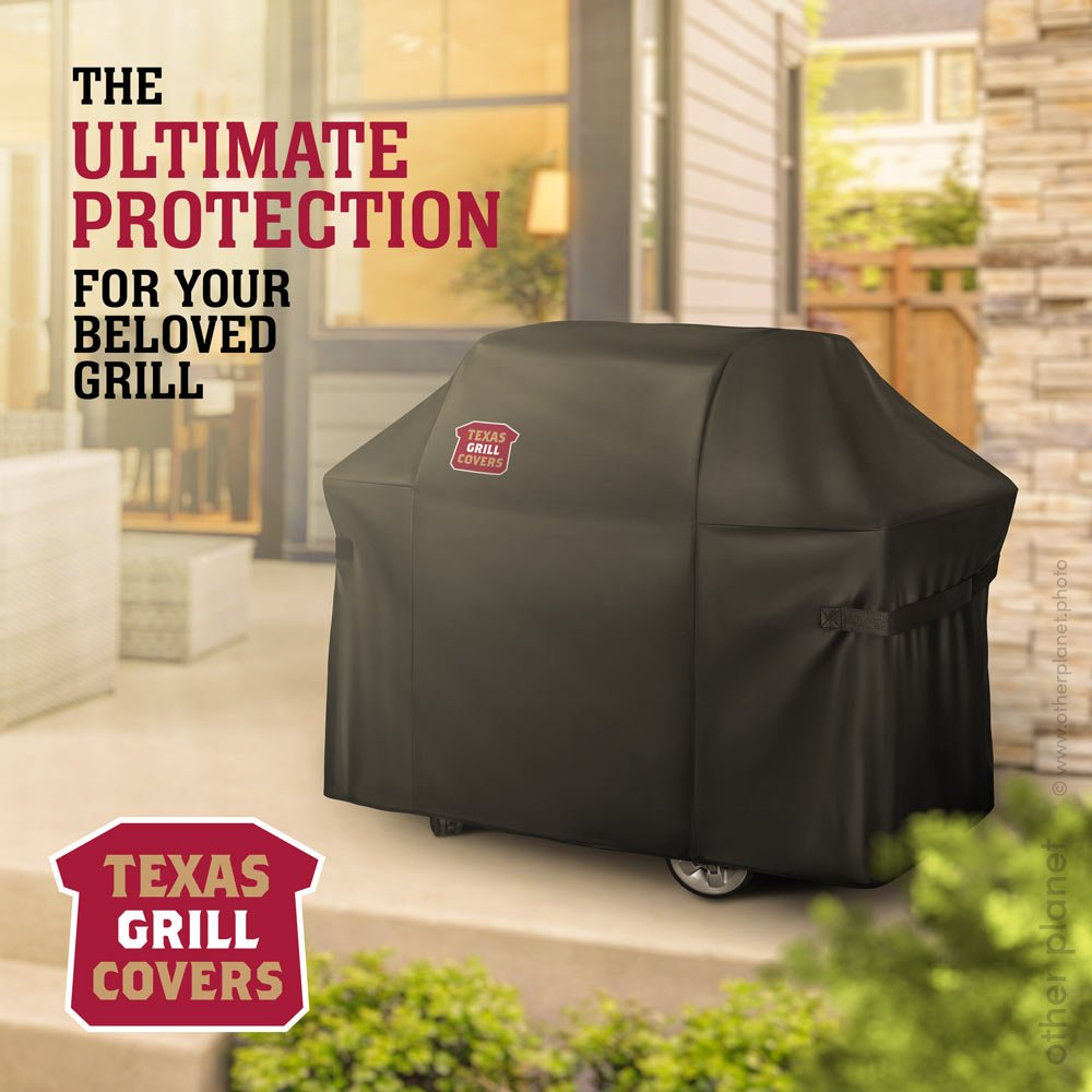 image for Amazon product grill cover with logo and copy