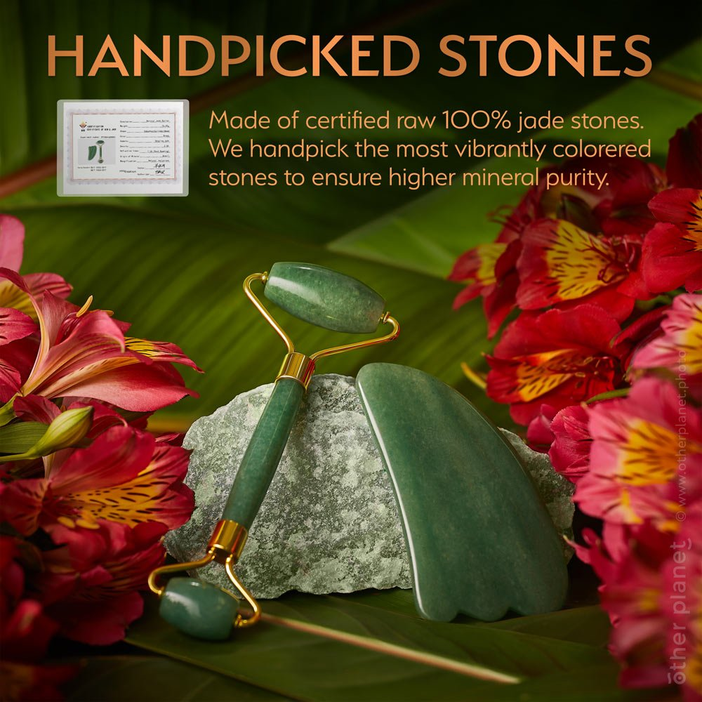 Jade stone roller SmartImage for Amazon arrangement with flowers