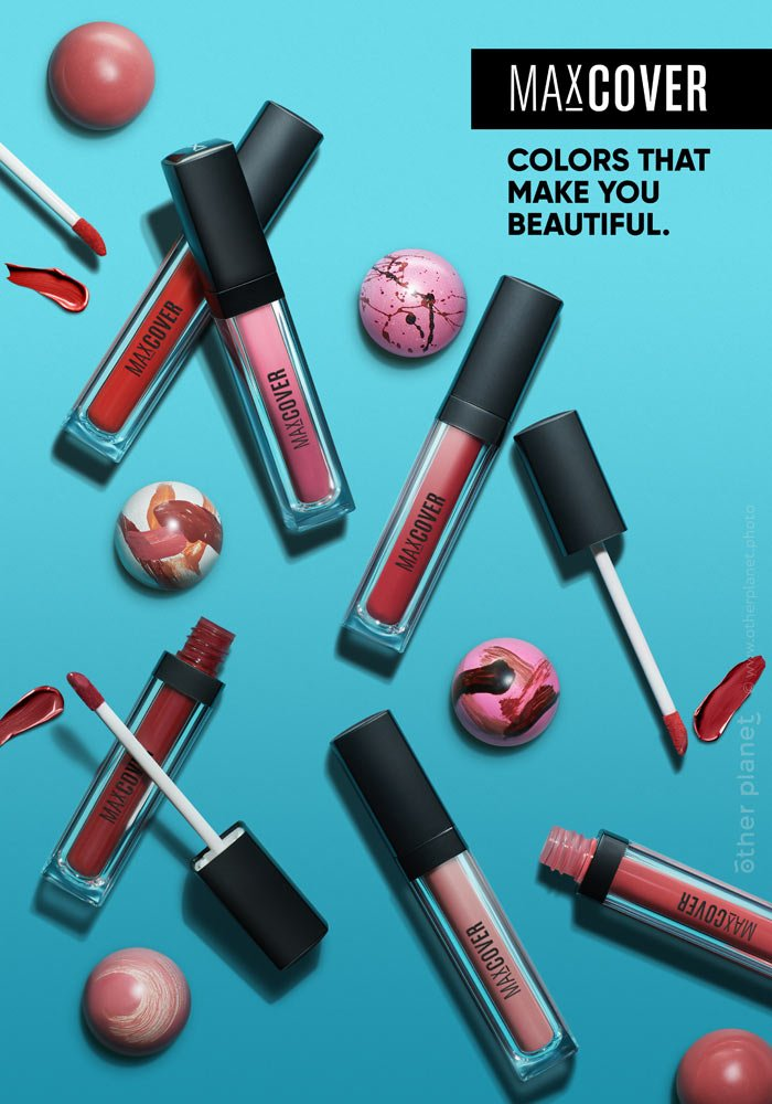 magazin advertising product photography for cosmetics MaxCover