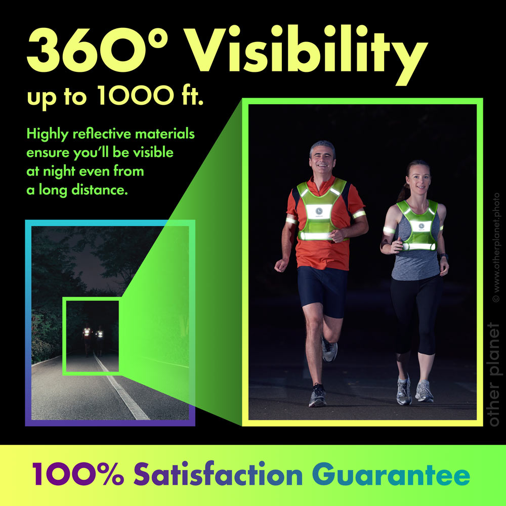 Outdoor Photography for Amazon product reflective vest