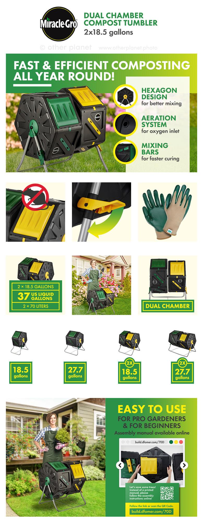 professional amazon photos EBC for Miracle Gro Compost Tumbler