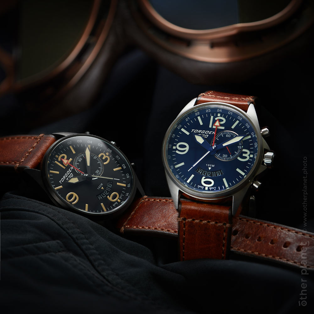 Product advertising photography for swiss watches Torgoen arrangement